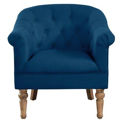 Loredana Tufted Armchair Upholstery: Blue