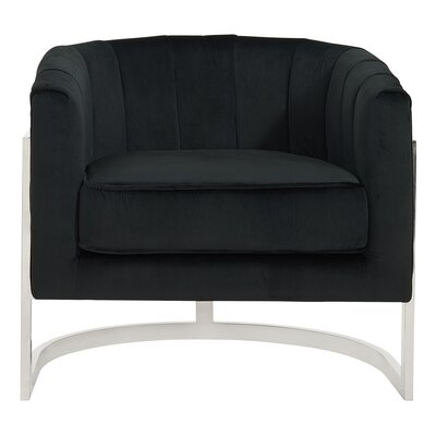 Borger Metal Frame Armchair Upholstery: Black