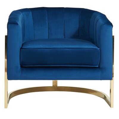 Borger Metal Frame Armchair Upholstery: Blue
