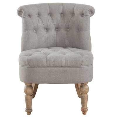 Linnea Slipper Chair Upholstery: Gray