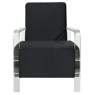 Borges Solid Fabric Armchair Upholstery: Black