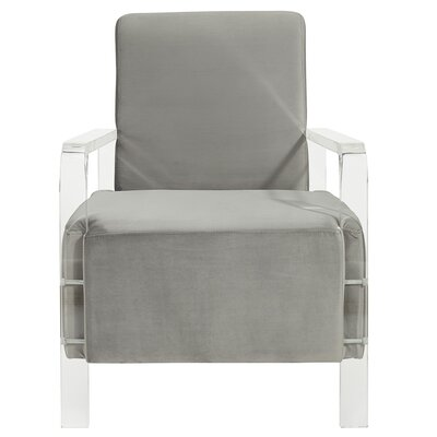 Borges Solid Fabric Armchair Upholstery: Gray