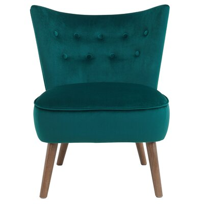 Liam Side Chair Upholstery: Green