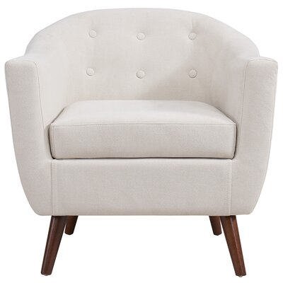 Jacob Barrel Chair Upholstery: Beige