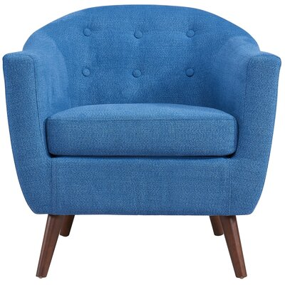 Jacob Solid Fabric Barrel Chair Upholstery: Blue