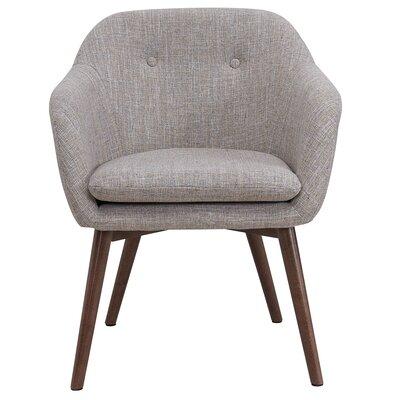 Noah Wood Leg Arm Chair Upholstery: Beige