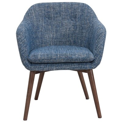 Noah Wood Leg Arm Chair Upholstery: Blue
