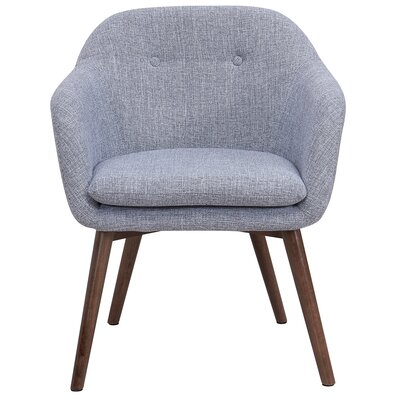 Noah Wood Leg Arm Chair Upholstery: Gray