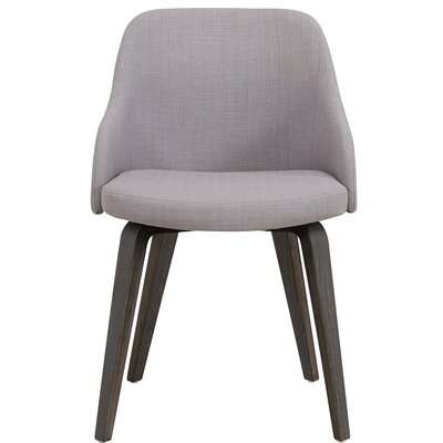 William Wood Leg Arm Chair Upholstery: Gray