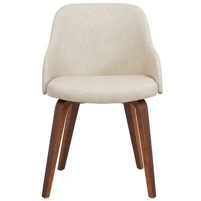 William Wood Leg Arm Chair Upholstery: Ivory
