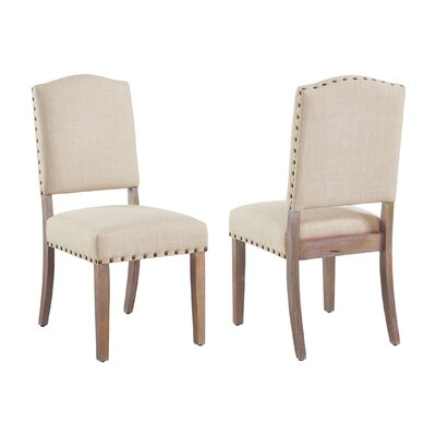 Penniman Upholstered Dining Chair Upholstery Color: Beige