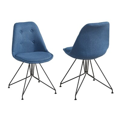 Jacobson Eiffel Style Dining Chair Upholstery Color: Blue