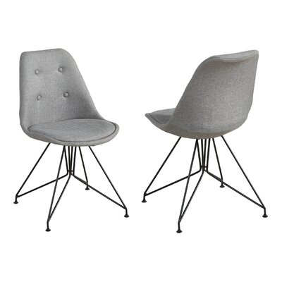Jacobson Eiffel Style Dining Chair Upholstery Color: Gray