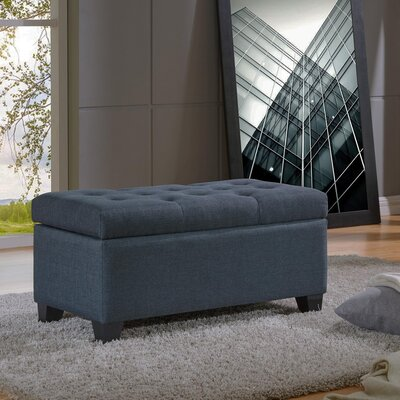 Kenneth Storage Ottoman Upholstery: Gray Blue
