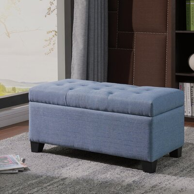 Kenneth Storage Ottoman Upholstery: Light Blue
