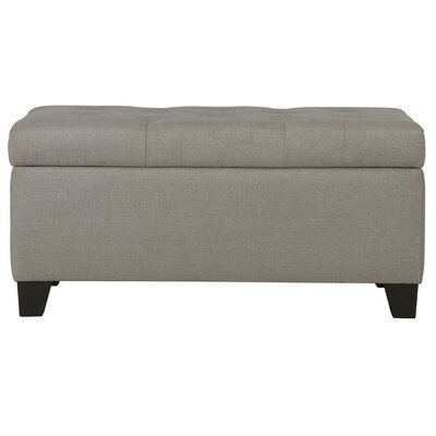 Kenneth Storage Ottoman Upholstery: Light Gray