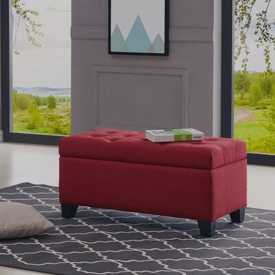 Kenneth Storage Ottoman Upholstery: Red