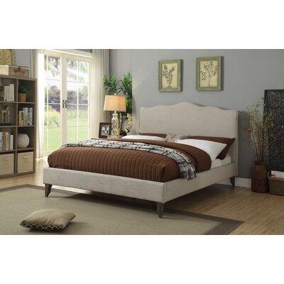 Elden Scallop Queen Upholstered Sleigh Bed Color: Beige