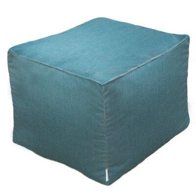 Sunbrella Outdoor/Indoor Pouf Ottoman Upholstery: Teal