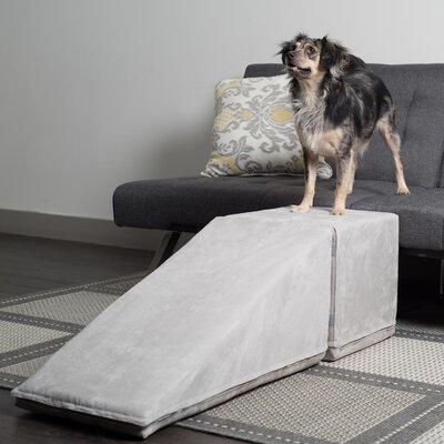 14 Pet Ramp and Landing Color: Platinum Gray
