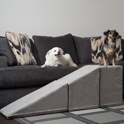 "Pet Ramp With 21"" Tall Landing Color: Platinum Gray"