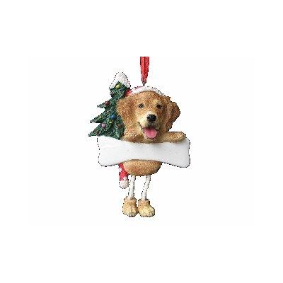 Golden Retriever Dangling Dog Ornament (Set of 2) 35356-15