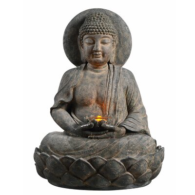 Outdoor Buddha Zen Fountain with LED Light 201607PT