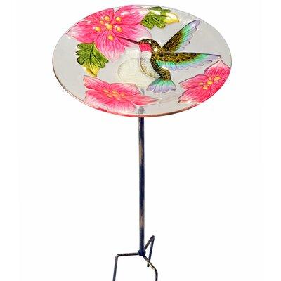 Outdoor Hummingbird Fusion Glass Decorative Bird Feeder 2206507