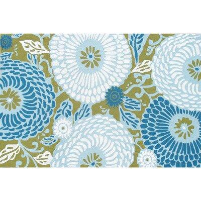 Park Avenue Rugs Dandelion Blue Floral Indoor/Outdoor Rug - Rug Size: 5' x 8'