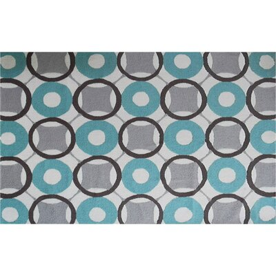 Rounders Blue Rug Rug Size: 5' x 7'