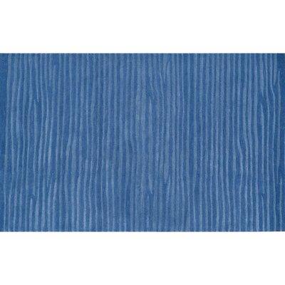 """Wavy Blue Rug Rug Size: 7'8"""" x 9'8"""