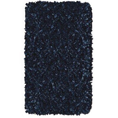 """Shaggy Raggy Dark Blue Rug Rug Size: 1'10"""" x 2'10"""