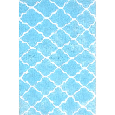 Handmade Blue Area Rug Rug Size: Rectangle 47 x 77