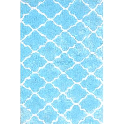 Handmade Blue Area Rug Rug Size: 47 x 77