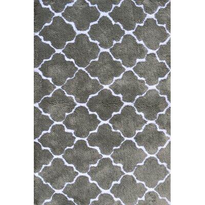 Handmade Gray Area Rug Rug Size: 2'8