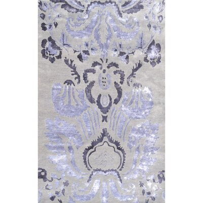 Handmade Purple/Gray Area Rug Rug Size: 5 x 8