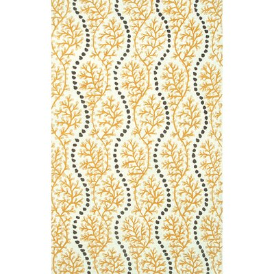 Handmade Yellow Indoor/Outdoor Area Rug Rug Size: 5 x 76