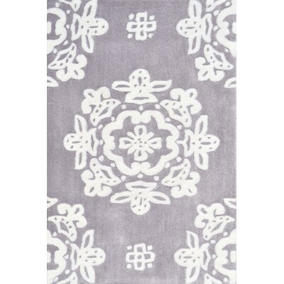 Handmade Gray/White Area Rug Rug Size: 28 x 48