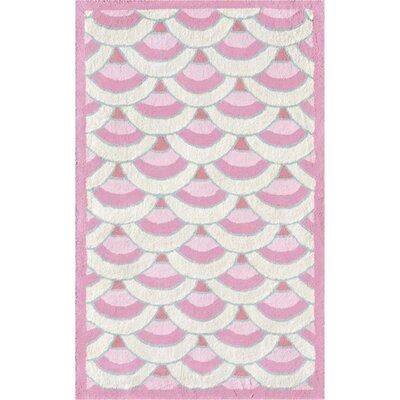 Handmade Pink Area Rug Rug Size: 47 x 77
