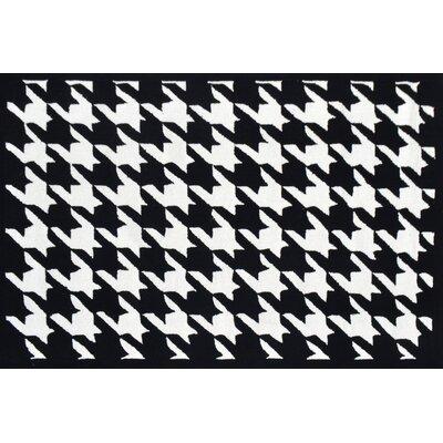 Handmade Black Area Rug Rug Size: 8' x 10'