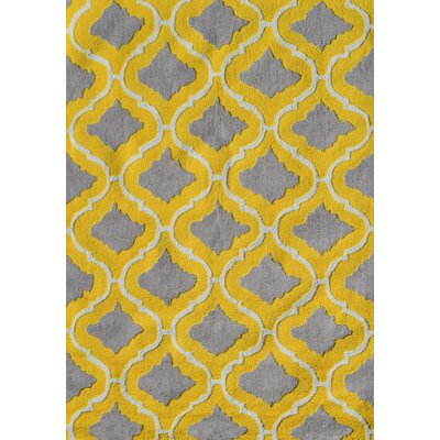 Handmade Yellow/Gray Area Rug