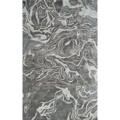 Handmade Gray Area Rug Rug Size: 8 x 11