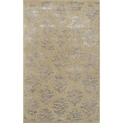 Captiva Handmade Gold Area Rug Rug Size: 8 x 11