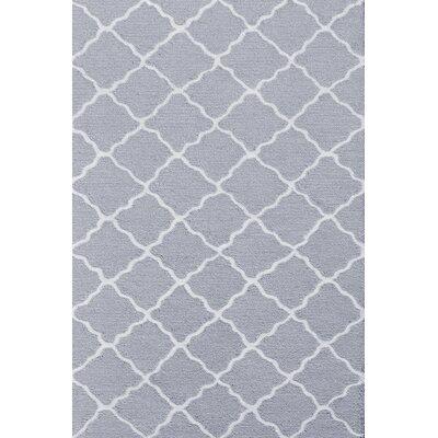 Handmade Gray Area Rug Rug Size: 28 x 48