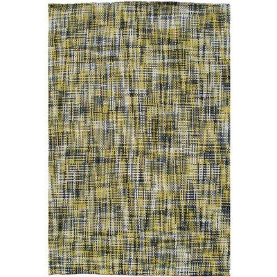 Handmade Yellow Area Rug Rug Size: 76 x 96