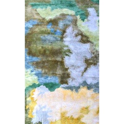 Handmade Multi-colored Area Rug Rug Size: 8 x 11