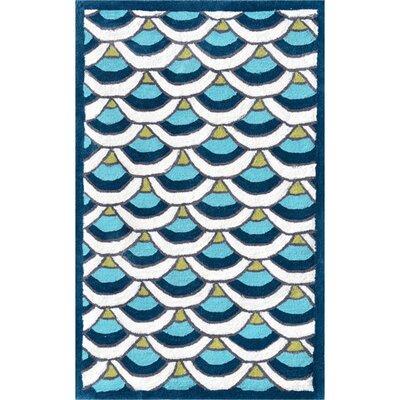 Handmade Blue Area Rug Rug Size: 28 x 48