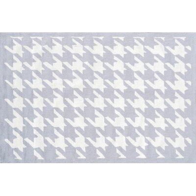 Handmade Light Gray Area Rug Rug Size: 5 x 8
