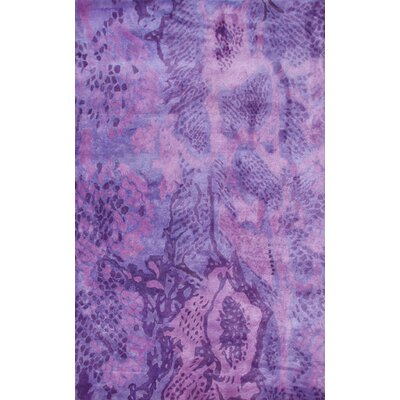 Uma Handmade Purple Area Rug Rug Size: 8 x 11
