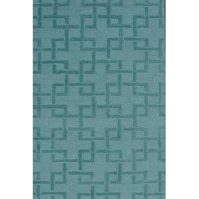Handmade Green Area Rug Rug Size: 28 x 48